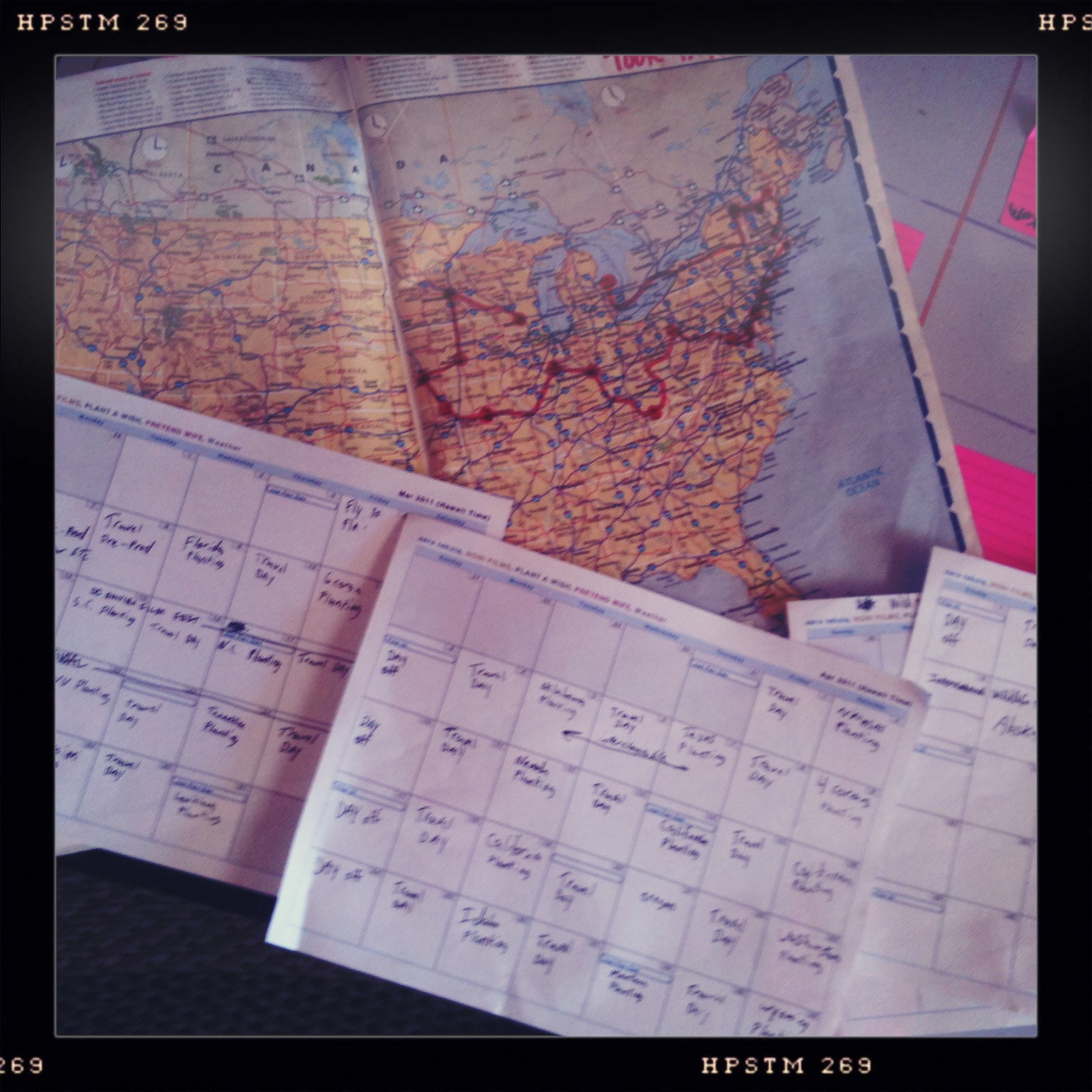 Map and Calendar for PAW 2011